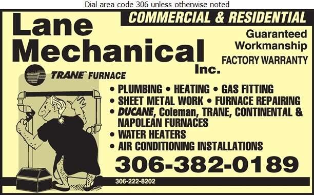 Lane Mechanical - Plumbing Contractors Digital Ad