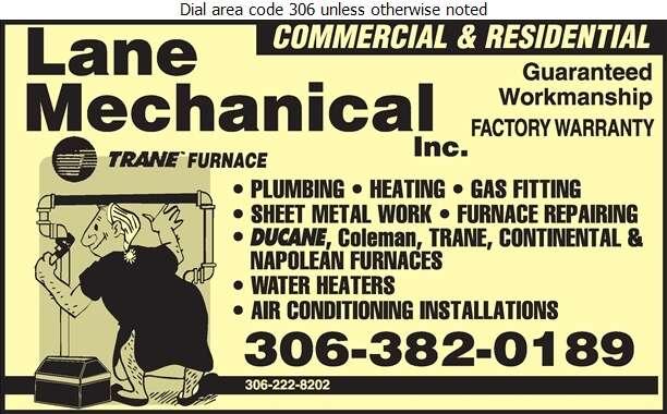 Lane Mechanical - Plumbing Contractors Digital Ad