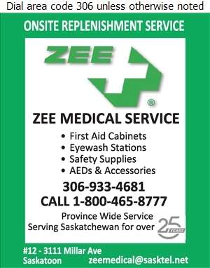 Zee Medical Service Co - First Aid Supplies Digital Ad