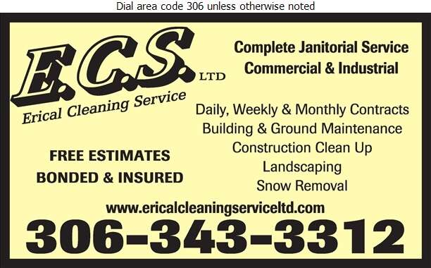 Erical Cleaning Service - Janitor Service Digital Ad