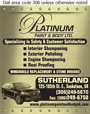 Platinum Paint & Body Ltd - Car Washing & Polishing Digital Ad
