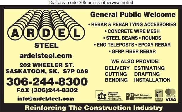 Ardel Steel Inc - Steel Reinforcing Digital Ad