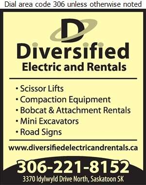 Diversified Electric & Rentals Ltd - Rental Service General Digital Ad