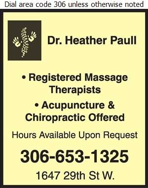 Paull Chiropractic and Massage Therapy - Massage Therapists Digital Ad