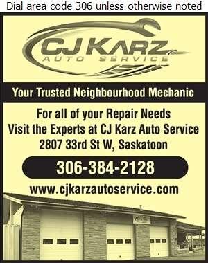 CJ Karz Auto Service Ltd - Auto Repairing Digital Ad