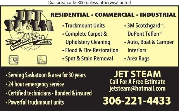 Jet-Steam Carpet Cleaning - Carpet & Rug Cleaners Digital Ad