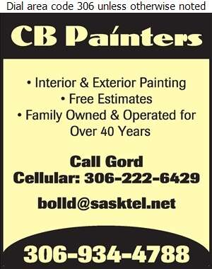 C B Painters - Painting Contractors Digital Ad