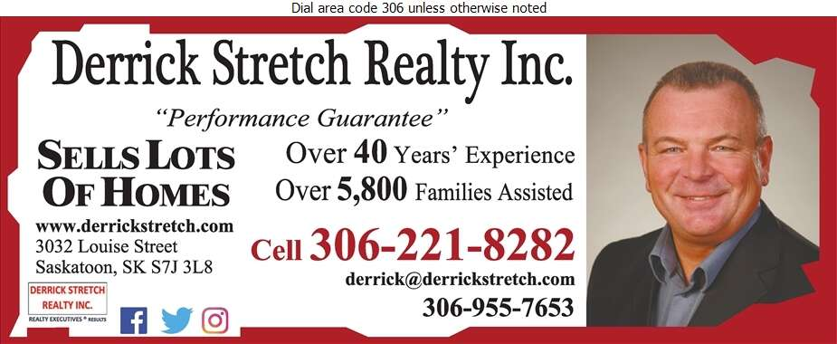 Derrick Stretch Realty Inc - Real Estate Digital Ad