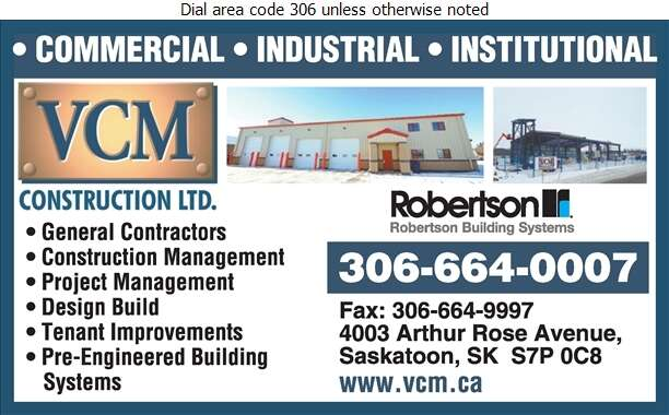 VCM Construction Ltd - Buildings Metal Digital Ad