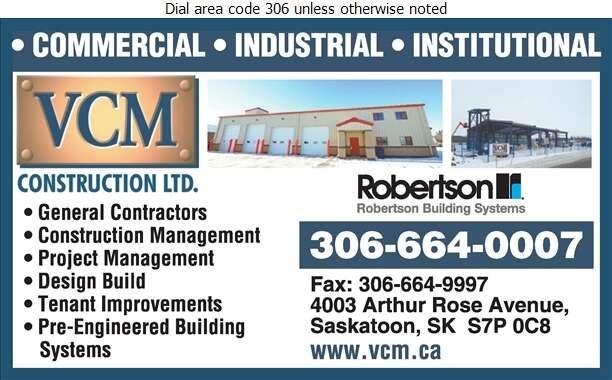 VCM Construction Ltd - Buildings Metal Digital Ad
