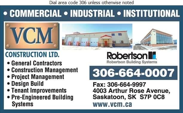 VCM Construction Ltd - Contractors General Digital Ad