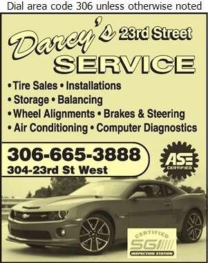 Darcy's 23rd St Service - Auto Repairing Digital Ad