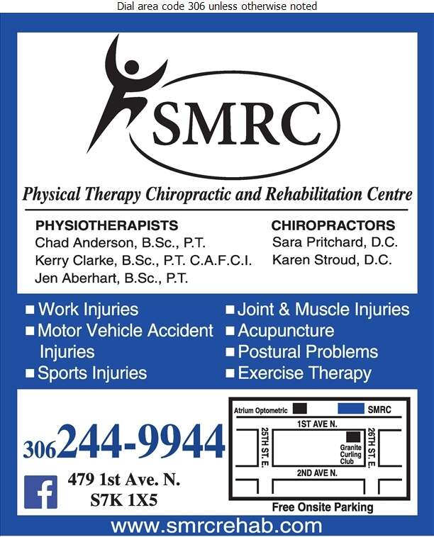 Saskatoon Musculoskeletal Rehabilitation Centre - Physical Therapy Digital Ad