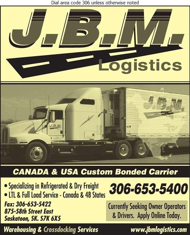 JBM Logistics - Trucking Digital Ad