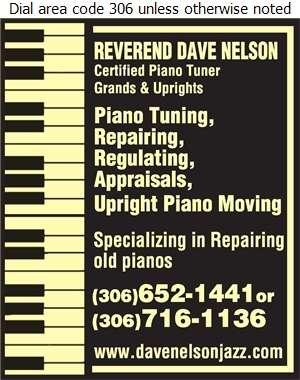 Dave Nelson Piano Tuning (Professional Musician & Tuner/Technician) - Pianos Tuning & Repairing Digital Ad