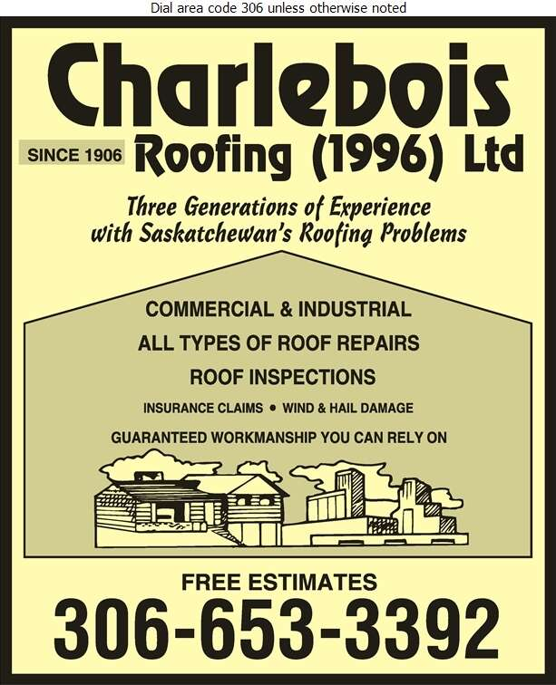Charlebois Roofing (1996) Ltd - Roofing Contractors Digital Ad
