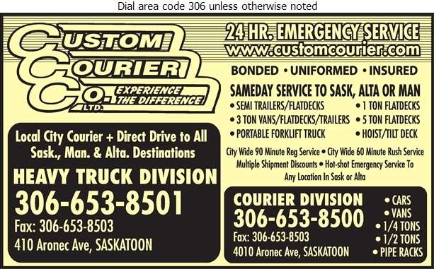Custom Courier Service - Courier Service Digital Ad