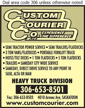 Custom Courier Service - Trucking Digital Ad
