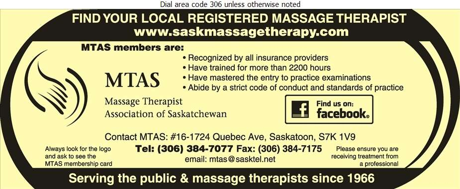 Massage Therapist Association of Saskatchewan Inc - Massage Therapists Digital Ad