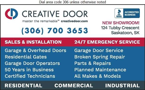 Creative Door Services Ltd - Doors Overhead Digital Ad