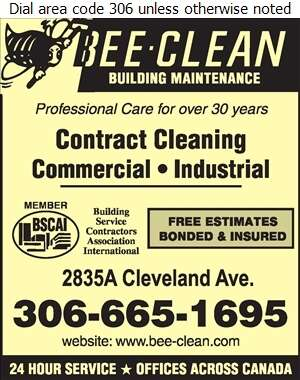 Bee Clean Building Maintenance - Janitor Service Digital Ad