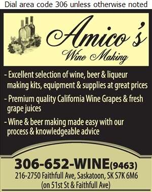 Amico's Wine Making - Wine Makers' Equipment & Supplies Digital Ad