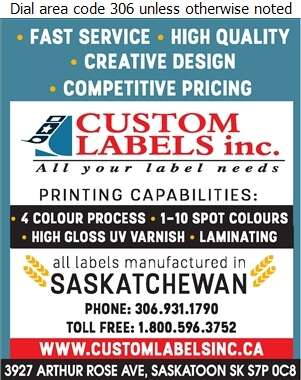 Custom Labels Inc - Labels Digital Ad