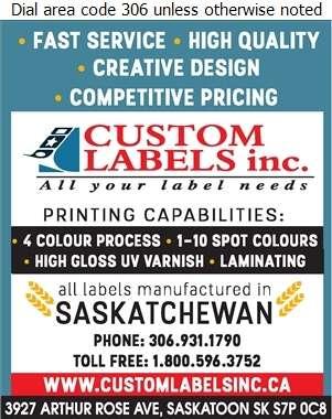 Custom Labels Inc - Labels Digital Ad