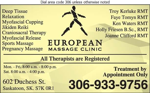 European Massage Clinic - Massage Therapists Digital Ad