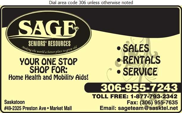 Sage Seniors' Resources - Home Care Products Elderly & Disabled Digital Ad