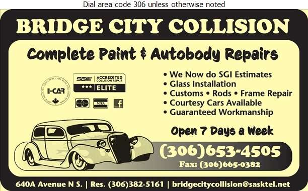 Bridge City Collision - Auto Body Repairing Digital Ad
