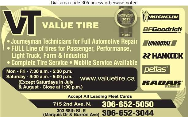 Value Tire - Auto Repairing Digital Ad