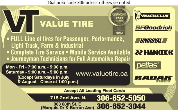Value Tire - Tire Dealers Retail Digital Ad