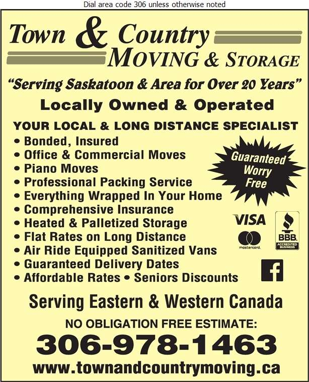 Town & Country Moving - Movers Digital Ad