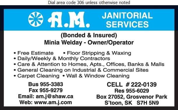 AM Janitorial Services - Janitor Service Digital Ad