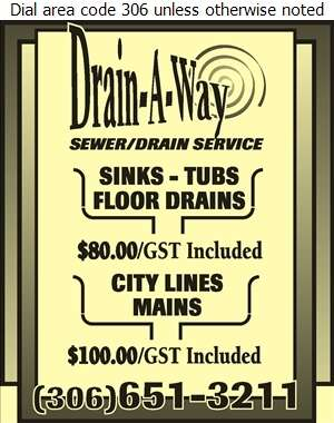 Drain-A-way - Plumbing Contractors Digital Ad