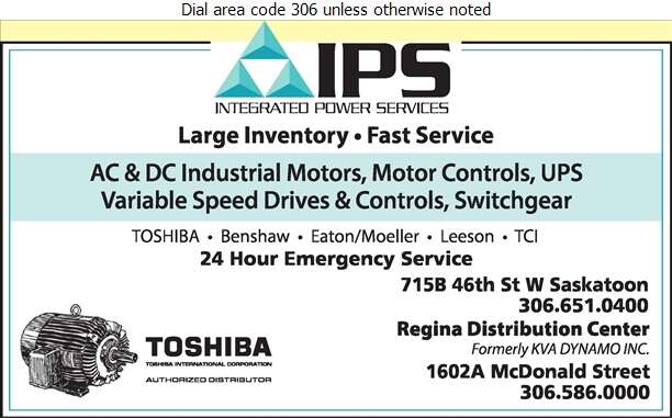Integrated Power Services Inc - Electric Motors Sales & Service Digital Ad