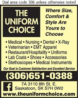 Uniform Choice The - Uniforms Digital Ad