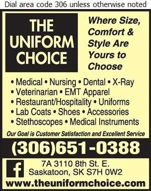 Uniform Choice - Uniforms Digital Ad