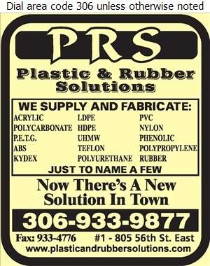 PRS Plastic & Rubber Solutions Ltd - Plastic & Plastic Products Retail Digital Ad