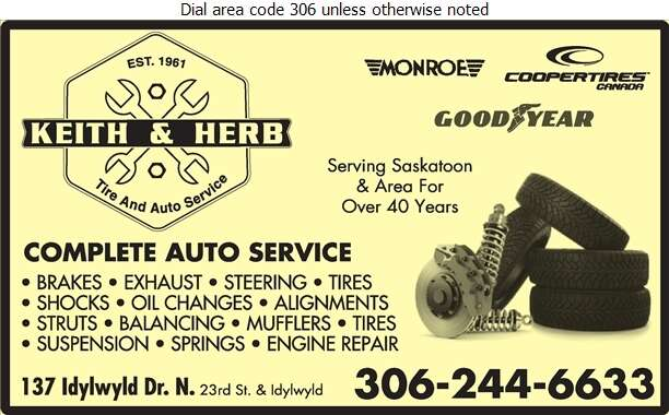 Keith & Herb Tire and Auto Service - Auto Repairing Digital Ad