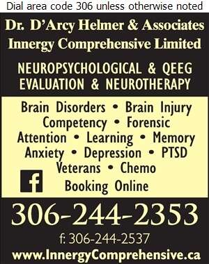 Helmer D'Arcy Dr & Assoc - Psychologists Digital Ad