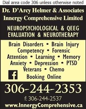 Helmer D'Arcy Dr & Assoc - Psychologists Digital Ad
