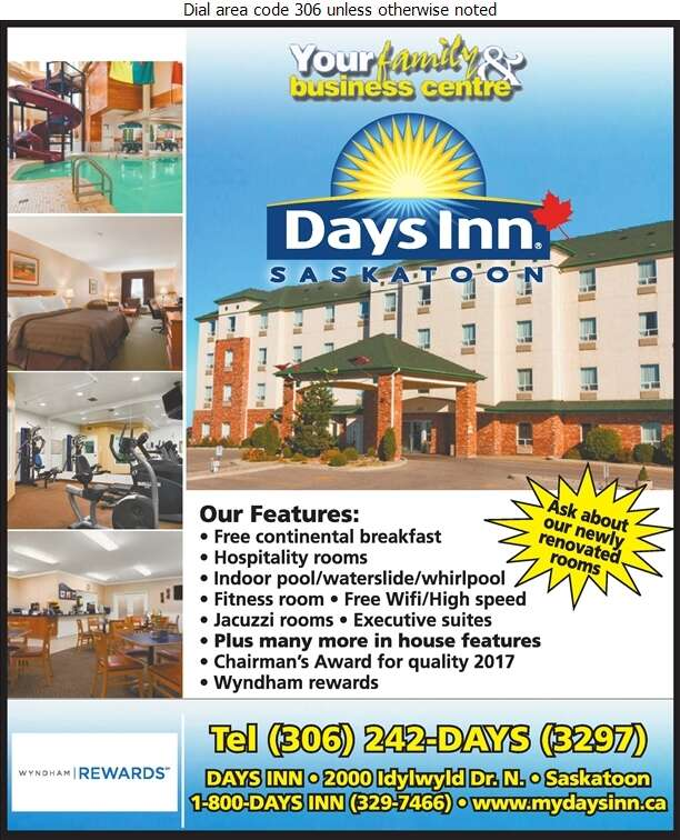 Days Inn (Corner Of Circle & Idylwyld) - Hotels Digital Ad