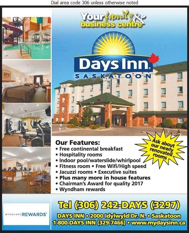 Days Inn (Corner Of Circle & Idylwyld) - Hotels Digital Ad