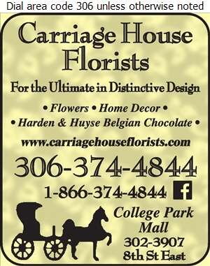 Carriage House Florists - Florists Retail Digital Ad