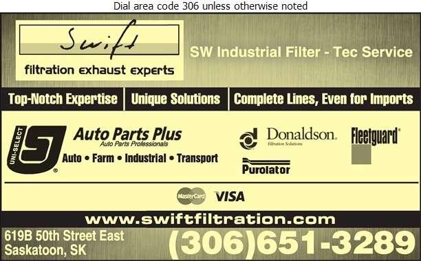 Swift Filtration - Auto Parts & Supplies Retail Digital Ad
