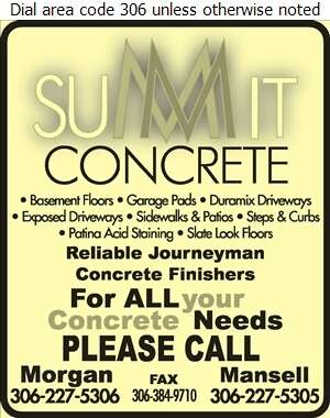 Summit Concrete Services - Concrete Contractors Digital Ad