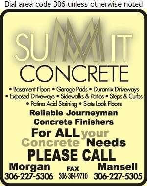 Summit Concrete Services - Concrete Contractors Digital Ad