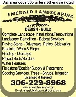 Emerald Landscaping - Landscape Contractors & Designers Digital Ad